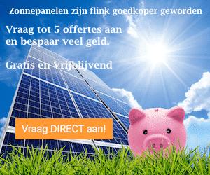 Advertentie zonnepanelen