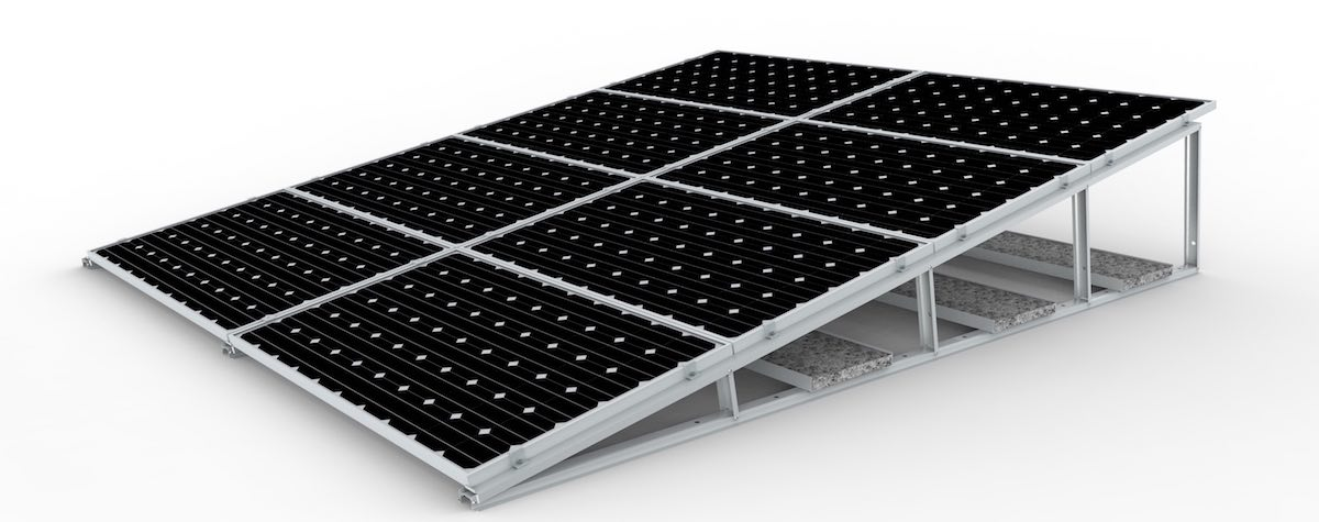 zonneschans zonnepanelen plat dak
