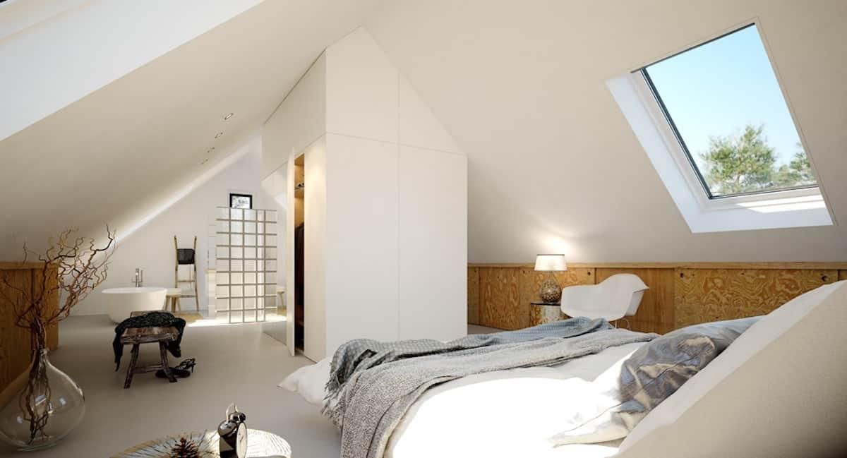 Zolder Slaapkamer Inrichten : Zolder inrichten ideeën en voorbeelden ▷ slaapkamer met dakkapel