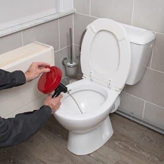 onstoppingsveer wc afvoer of gootsteen verstopt
