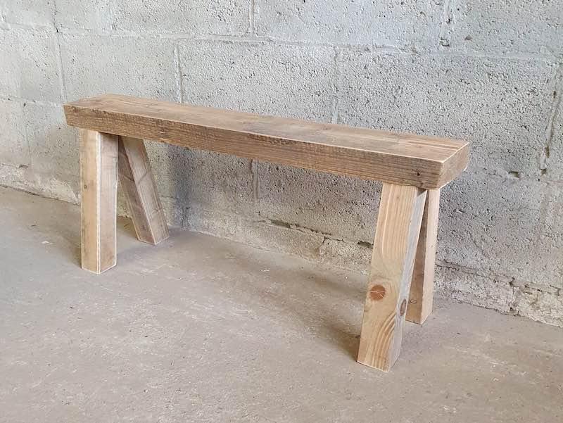 houten bankje op maat